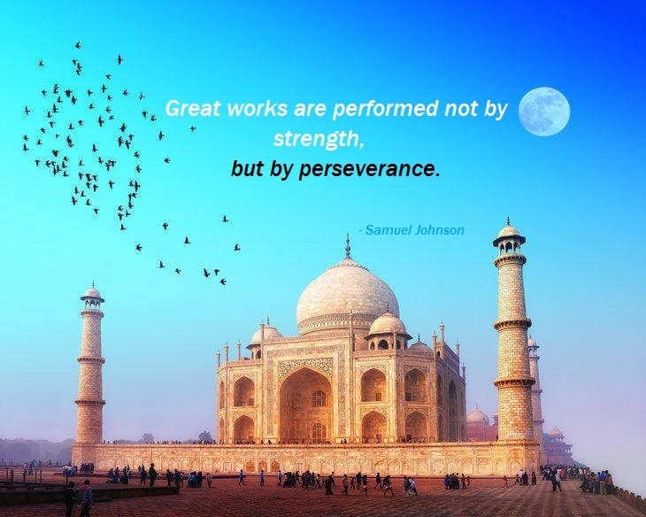 Quote on patience and perseverance