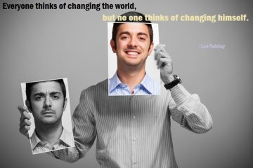 change - positive thoughts - man - faces - happy
