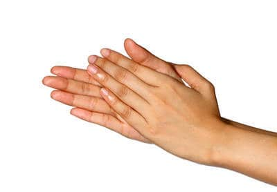 Woman's hands rubbing together - Your feelings my brain
