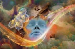 Artwork of dreaming face
