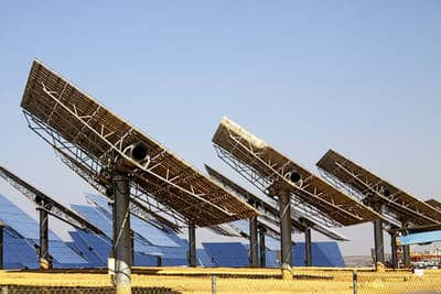 Solar panels at plant - Clean Power Plan's fatal flaw