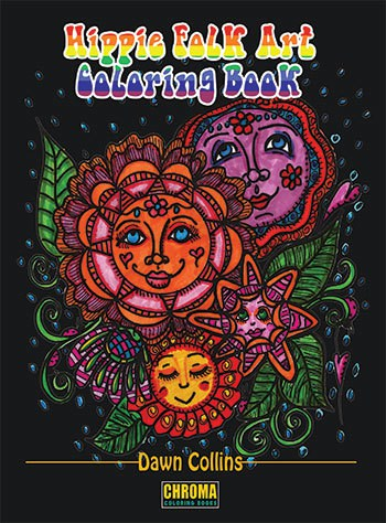 Hippie Folk Art Coloring Book The Mindful Word