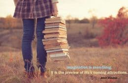 imagination-clever-knowledge-girl-field-books