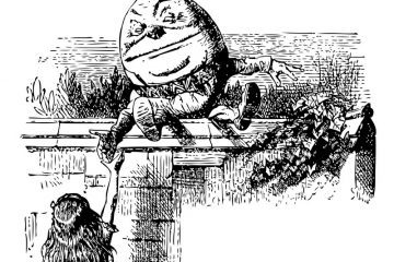 Humpty Dumpty with Alice in Wonderland