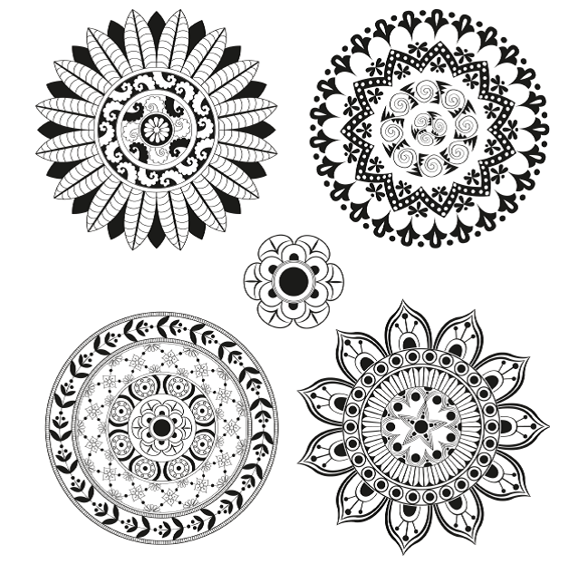 FREE COLOURING PAGES 5 stunning mandalas to colour from Complete