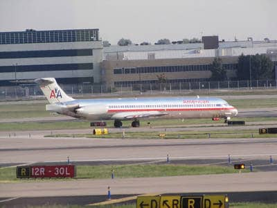 American Airlines plane at St. Louis airport - Nobody knows you fiction