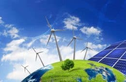 Renewable energy: wind, solar, biomass, hydro