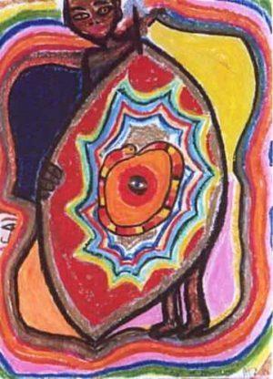"""Wisdom Eye"" crayon piece - Plunging back into art"