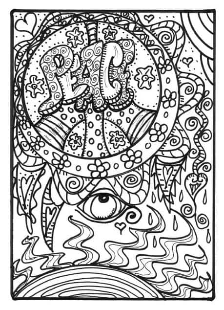 FREE COLORING PAGES FOR ADULTS 8 Funky Pictures From Hippie Folk