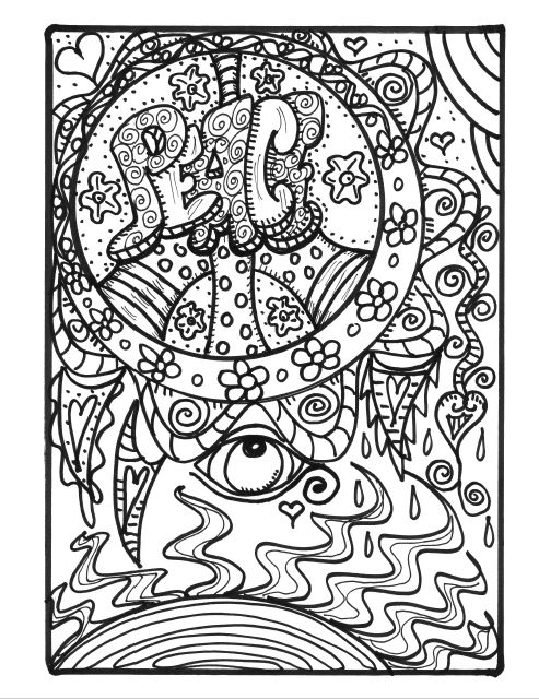 hippie coloring pages - photo#19