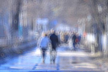 Blurred city street - The secret language of fear