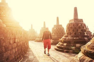 Borobudur Temple in Java, Indonesia - The secret language of fear