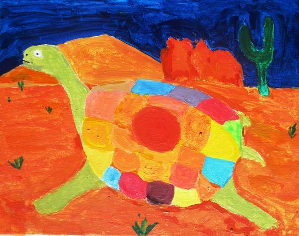 Turtle painting by Max Reif - Sacred totems