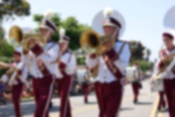 Marching band blurred - Poems by Mike Larcombe