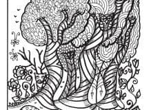 The Way of the Bear - free bear coloring book page