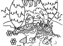 Free coloring pages for kids (Bears)