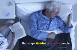 hardship - old man - sick - death - bed