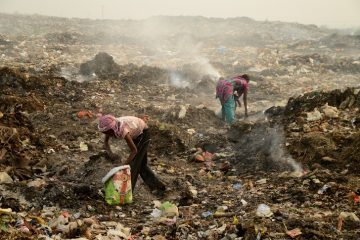 Rag pickers in India - rummaging through garbage