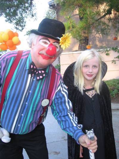 Author dressed up as clown for Halloween - Laugh your way to higher consciousness