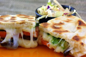 Vegetarian mozzarella cheese sandwich - Delish without dairy