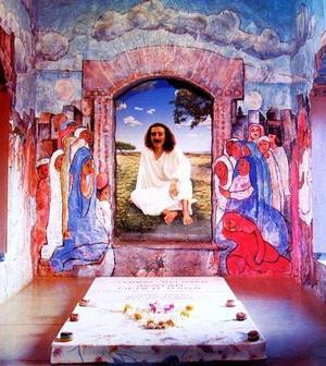 Painting in Meher Baba's tomb - The world that is there for us