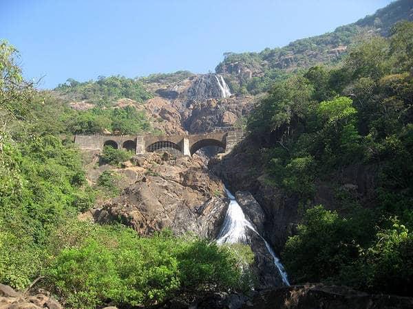 Dudhsagar falls - Cascading waterfalls