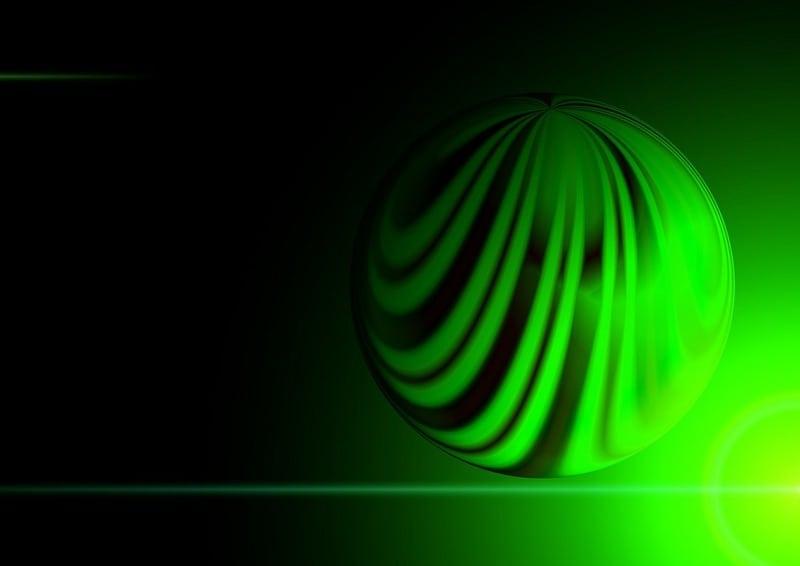 green ball of lighr