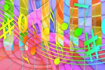 musical notes that color