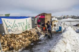 "Standing Rock protest sign - LaRose and the ""other"""