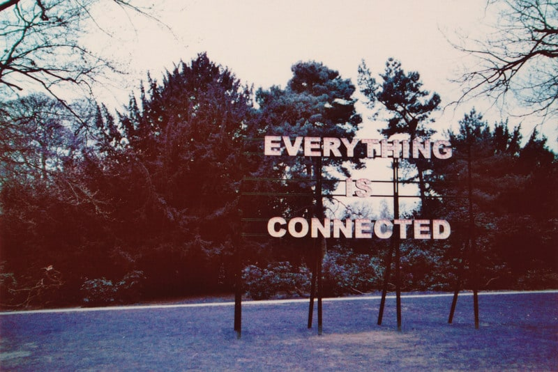 everything is connected Sculpture by Peter Liversidge at the Yorkshire Sculpture Park