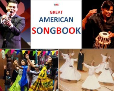 Collage of pictures - Bhakti and The Great American Songbook