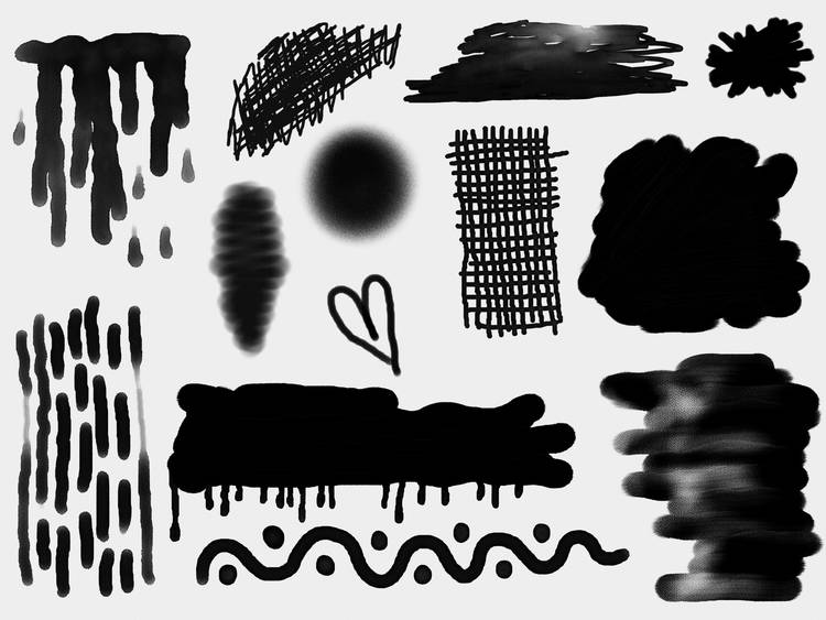 Black doodles on white paper - Mindfulness and the art of drawing