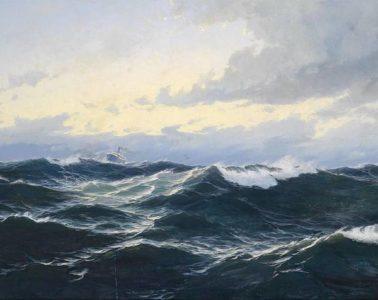 Ship in rough ocean water - Poems by Michael Seeger