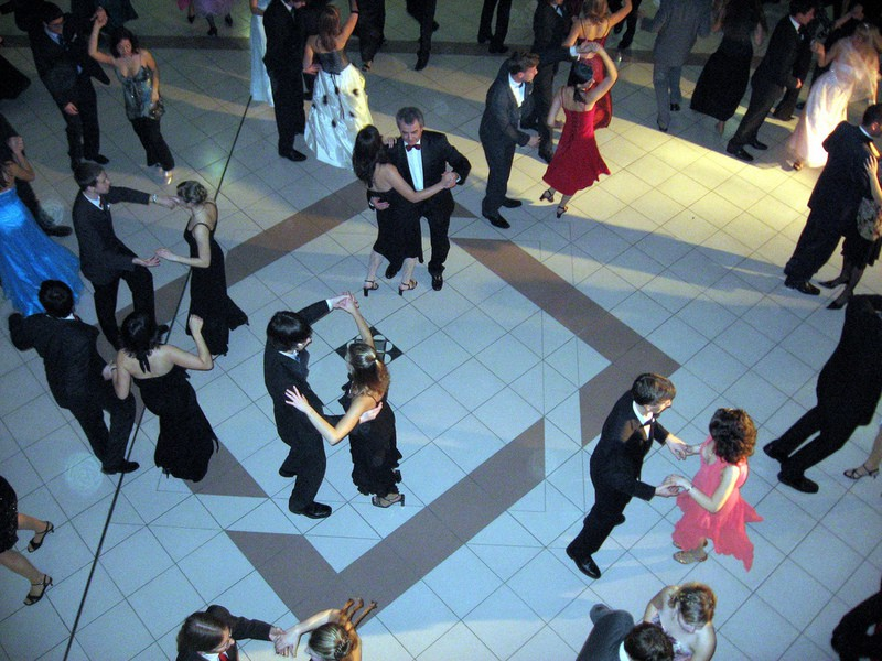 People ballroom dancing