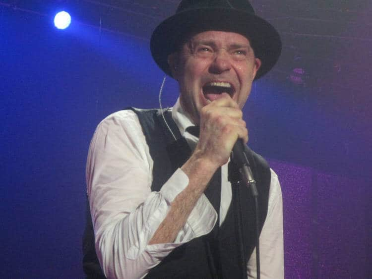 Gord Downie of The Tragically Hip singing - The last hurrah