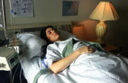 Woman lying in hospital bed - Nonsense and transcendent experience