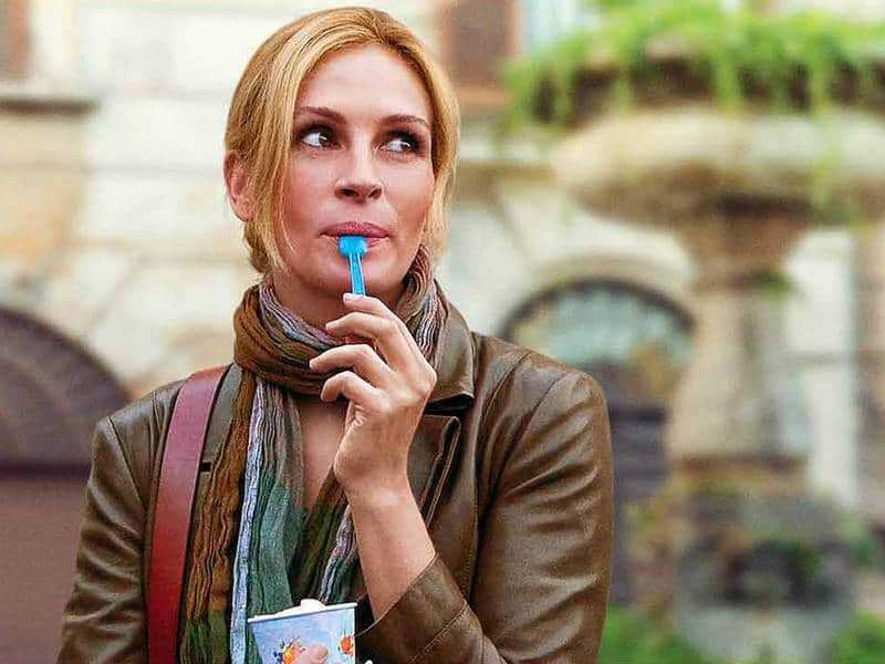 Elizabeth Gilbert in Eat, Pray, Love movie - Writing about illness and injury