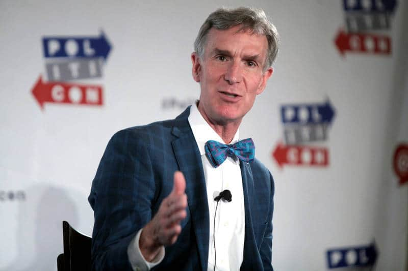 "Bill Nye ""the Science Guy"" speaking in Pasadena, California - Confronting reality"