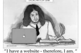 Smaller view of Descartes cartoon - Descartes 2016