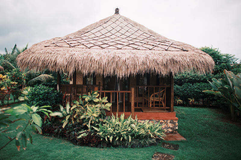 House with straw roof on grass - Travel and the mindset of 'I can'
