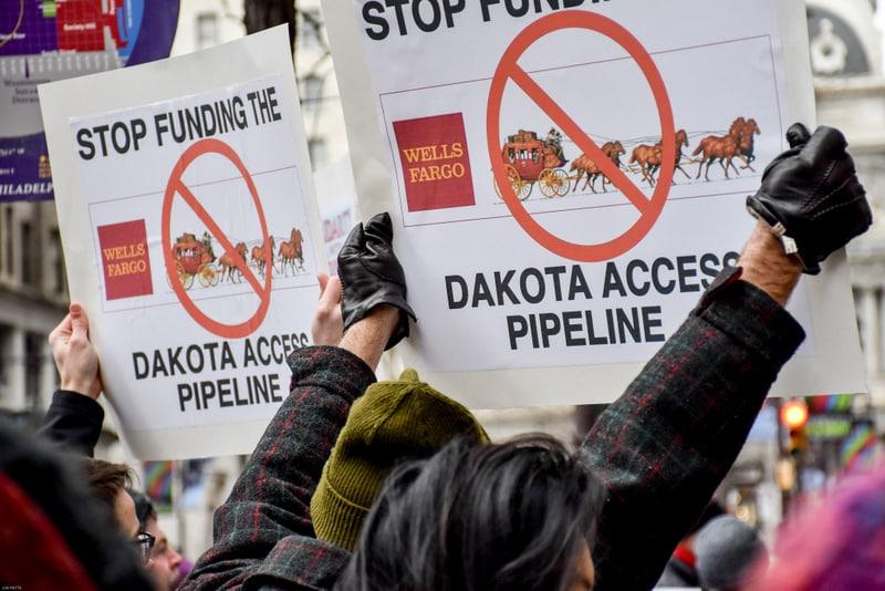 protests against Dakota Pipeline