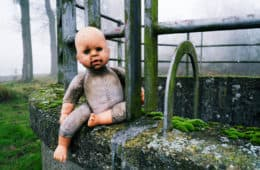 doll abandoned in a park