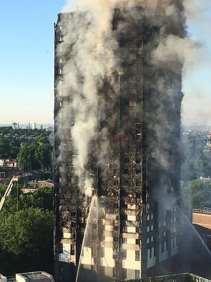 London Grenfell Tower fire