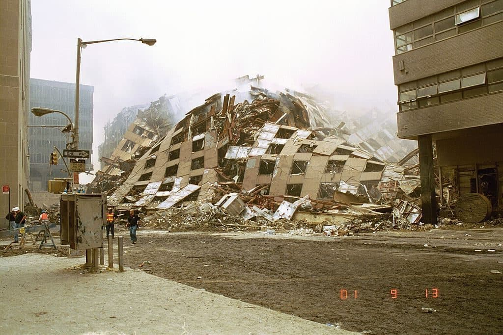 Rubble of WTC 7