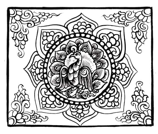 PRINTABLE COLORING PAGES FOR ADULTS 7 Asian Traditional Art Adult Coloring Book Pages From Asiatika