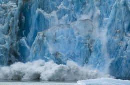 Glacier calving - Expressive nature photography