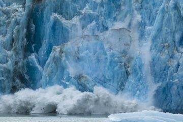 Glacier calving - Expressive nature photography