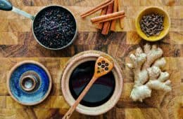 Ingredients for elderberry syrup recipe - The benevolent bee