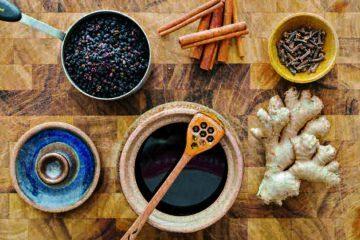 Ingredients for elderberry syrup recipe - The benevolent bee