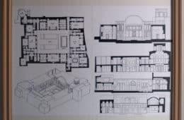 Blueprint of an artist's house